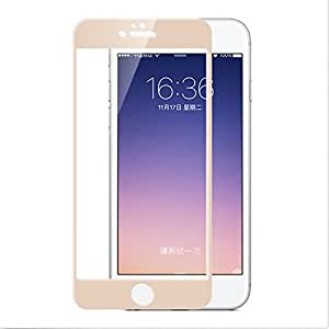iPhone 7+ / iPhone 7 Plus Tempered Glass,SMM Premium Full Screen Gold Color 2.5D Curved with 9H Hardness Tempered Glass Screen Protector for iPhone 7+ / iPhone 7 Plus - (Gold)