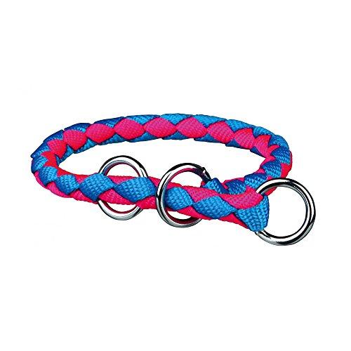 Trixie Cavo Zug-Stopp Halsband (M) (Neon Blau/Neon Pink)