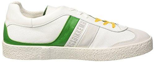 Bikkembergs Ris-Er 842, Sneaker a Collo Basso Uomo Bianco (White/Green)