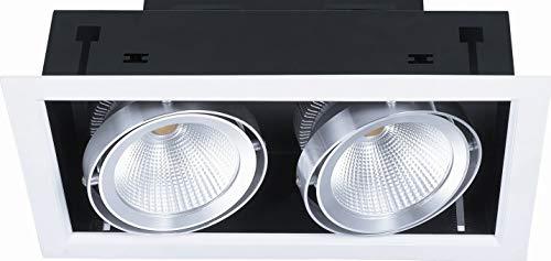 FOCO CARDAN LED ORIENTABLE BASCULANTE 40W (2X20W) BLANCO 3000K LUZ CALIDA 45º...