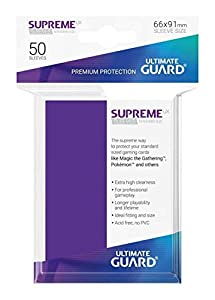 Ultimate Guard- Protective Card Sleeves Funda Metalizada Violeta 50 U, Color Aquamarine, Talla estándar (UGD010800)
