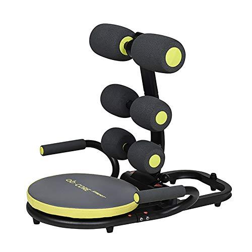 HHH Multifunktions Abdominal Ausrüstung Ab Fitness Crunch Ab Trainer für Fitness Studio Innenministerium Kernkraft Trainer Ab Workout Equipment Core Workout Machine,Black
