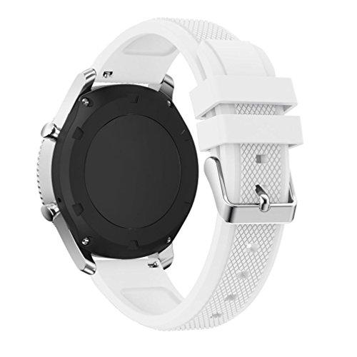 Kaiki für Samsung Gear S3 Classic Armband,Neue Art- und Weisesport-Silikon-Armband-Bügel-Band für Samsung-Zahnrad S3 Klassiker (White)