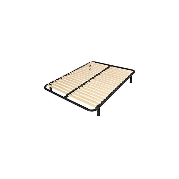 france matelas sommier cadre lattes 140x190 cm inspid co. Black Bedroom Furniture Sets. Home Design Ideas