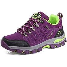 WOWEI Zapatos de Senderismo Al Aire Libre Ocio Deportes Impermeable Antideslizantes Escalada Trekking Sneakers Zapatos de