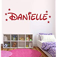 Personalised Disney Name Wall Sticker, Any Name, Any Colour, Childs Bedroom (Large 100cm x 53cm, Rose Red)