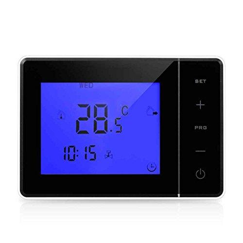 Preisvergleich Produktbild Kongnijiwa Werkzeug Programmierbare-Wandkessel Heizung Thermostat 5A Digital-Raumtemperaturregler Touchscreen-LCD Thermostat