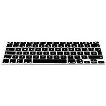 kwmobile Protección de silicona para teclado QWERTY (España) para Apple MacBook Air 13''/ Pro Retina 13''/ Pro Retina 15'' negro