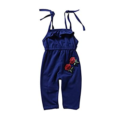 Brightup Baby Girls Straps Rompers, Kids Jumpsuits One Piece Pants Clothing,Summer Outfits Little Girl Dungarees,Cotton Overall : everything £5 (or less!)