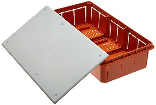 Electraline 60413Distribution Box glatt für die Unterputz-Montage in Mauerwerk 294x 152mm, Weiß / Orange