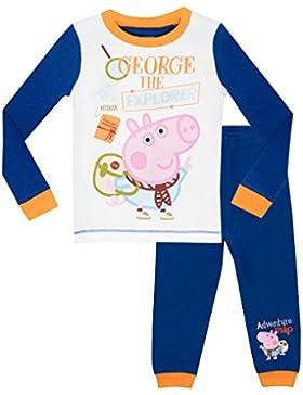 Peppa Pig - Pijama para Niños - George Pig - Ajuste Ceñido