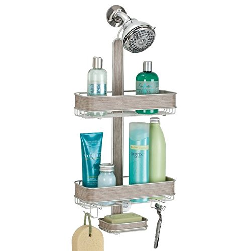 mdesign-panier-douche-pour-shampoing-revitalisant-savon-satin-finition-bois-clair