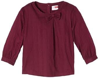 NAME IT Baby - Mädchen Hemd 13092057 PIMINE MINI LS SHIRT, Gr. 98, Rot (Grape Wine)