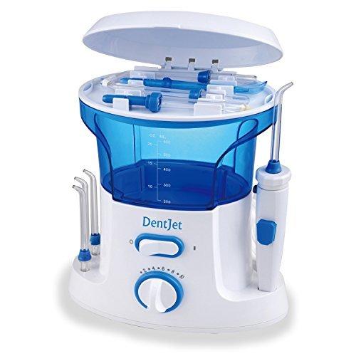 Munddusche Oral Wasserreiniger, [DentJet] Professionell Wasserdicht Zahnpflege Zahnreinigung Wasserstrahl für Familie Haushaltnutzen mit 7 Düsen