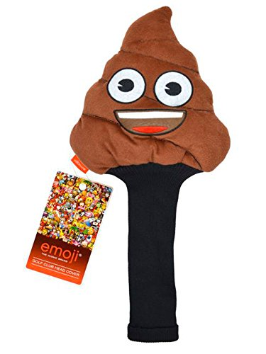 Emoji Unisex 3D Poop Neuheit Golf Head Cover, Braun (Neuheit Headcover)