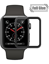 Ecoye Apple iwatch Series 3 Protector de Pantalla, Full Coverage 9H Dureza Vidrio Templado Cristal Templado para Apple Watch Series 3[42MM]
