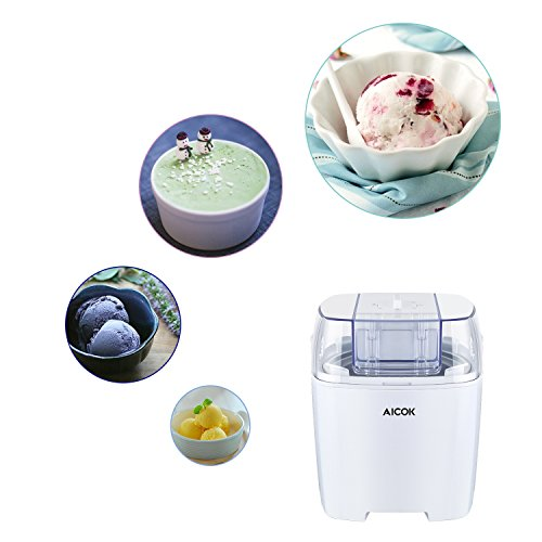 aicok eismaschine 1 5 liter eiscreme maschine sorbet maschine frozen joghurt maschine. Black Bedroom Furniture Sets. Home Design Ideas