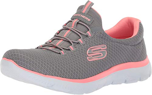Skechers Damen 12980 Sneakers, Grey (Grey/Pink), 5 UK (38 EU)