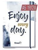 Chäff-Timer Premium A5 Kalender 2019/2020 [Enjoy every Day!] Terminplaner 18 Monate: Juli 2019 - Dez. 2020 | Terminkalender, Wochenplaner, Wochenkalender, Organizer mit Gummiband und Einstecktasche