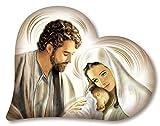 Lupia Capezzale Sacra Famiglia in Legno Heart Nativity Brown 50X65 cm