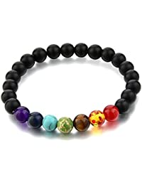 """Hot and Bold """"Certified"""" Natural Gem/Semi Precious Stones & 7 Chakra Bracelet. Daily/Party/Office/Casual Wear Fashion Healing, Reiki Crystal Jewellery for Men/Women/Boys/Girls."""
