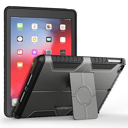 JETech Funda Compatible iPad (9,7 Pulgadas, 6ª / 5ª generación, 2018/2017 Modelo), Cubierta Protectora de diseño de Doble Capa, Gris