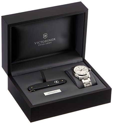Victorinox Swiss Army Men s Watch XL with Classic Officer s 241551.1 Pocket  Analogue Quartz Stainless Steel 9ec92e8bed