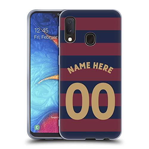 Head Case Designs Personalisierte Individuelle Newcastle United FC NUFC Away Kit 2018/19 Crest Soft Gel Huelle kompatibel mit Samsung Galaxy A20e (2019) -