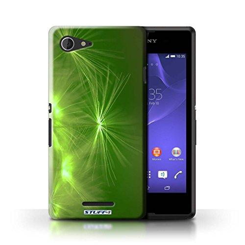Kobalt® Imprimé Etui / Coque pour Sony Xperia E3 / Rouge conception / Série Allumez la vie Vert