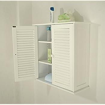 Bad hängeschrank weiß  Badezimmer Hängeschränke , weiß,HC-011: Amazon.de: Küche & Haushalt