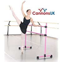 Cannons UK - Barra de ballet / estiramiento independiente y portátil., rosa