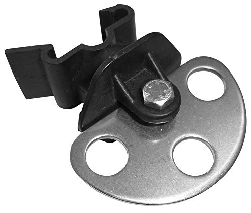 3X T-Pfosten ClipTorisolator 3-Fach, Weidezaunseil und Litze - Torisolator für Litze oder Weidezaunseil - Drei Torgriffe möglich - Auch als T-Verbindung für Abteilweiden nutzbar