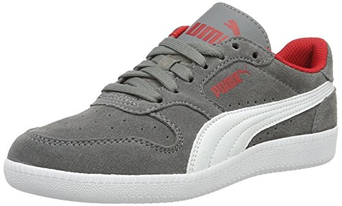 Puma Unisex-Kinder Icra Trainer SD Jr Low-Top, Grau (Steel Gray White 14), 38 EU