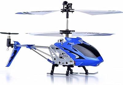 Syma S107 Gyroscope Stabilizing System Aluminium I/R Controlled USB Helicopter - Blue