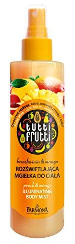 Bodyspray Mango & Pfisich Tutti Frutti, erfrischender Körperspray mit Schimmereffekt, 200 ml