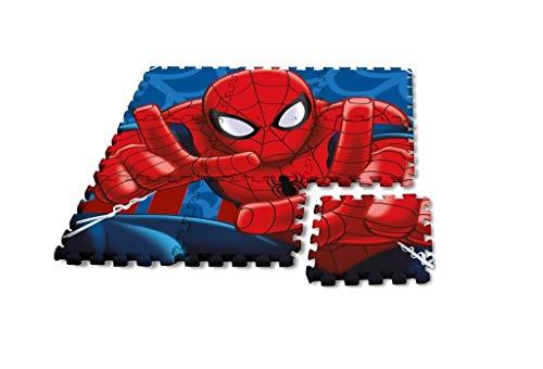 vel Spiderman Bodenmatte Puzzlematte Schaumstoffmatte 9 Stück a 30x30cm ()