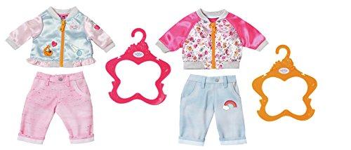 Zapf BABY born Casuals Juego de ropita para muñeca - Accesorios para muñecas (Juego de ropita para muñeca, 3 año(s), Multicolor, 43 cm, Chica, 43 cm)