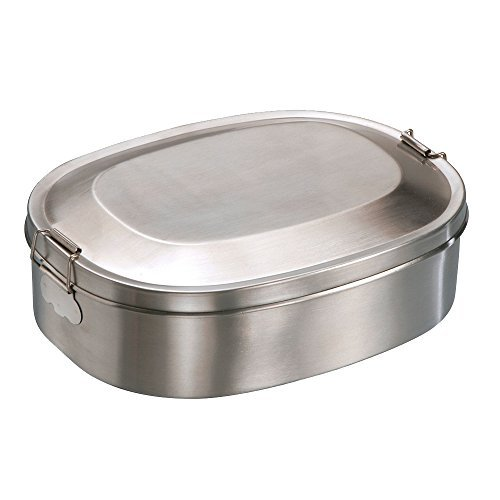 Edelstahl Vesperdose 14 x 18 cm Vesperbox Brotdose Lunchbox Dose Box Behälter