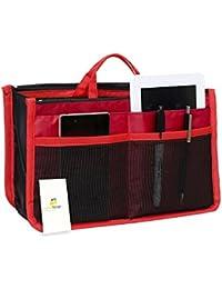 HomeStrap Handbag Organizer/Travel Storage Bag/Multi Pocket/Function Bag Organizer - Red