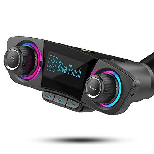TechCode FM Transmitter Auto Bluetooth,Wireless MP3-Player Radio Adapter Car Kit mit Dual USB Ladeanschlüssen Freisprecheinrichtung Car Kit Bluetooth USB Auto-Port LED Anzeige für iOS und Android