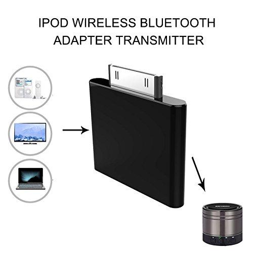 Mini 30 Pin Wireless Audio Sender,Miya Stereo Bluetooth V2.0 Sender Musik Receiver Stereo Dongle für iPod Mini iPod Nano Touch Video keine Notwendigkeit Setup und jede Software,Keine Batterien benötigt werden. (Ipod Stereo-system Nano)