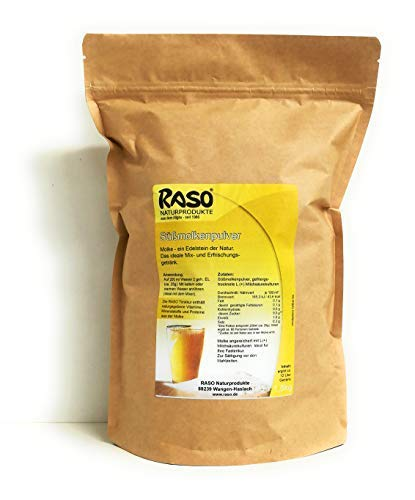 MOLKE SHAKE NEUTRAL 1,5 Kg VERSANDKOSTENFREI Molkepulver natur Nachfüllpack von RASO - Molke ohne Geschmacksverstärker, reines Molkepulver ohne Zusätze