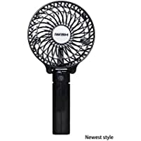 iwish The newest style Protable Folding Mini USB Rechargeable Fan Electric Personal Handheld Fans desktop fan Black