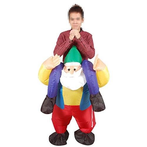 Aufblasbare T Rex Kostüm Santa - KODH Aufblasbares Erwachsene Halloween Karneval