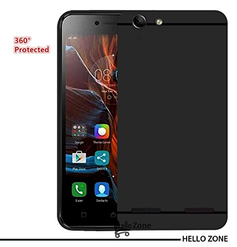 Hello Zone Exclusive Matte Finish Soft Back Case Cover For lenovo vibe k5 Plus-Black