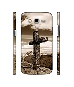 Casotec Cross Design 3D Printed Hard Back Case Cover for Samsung Galaxy Grand 2 G7102 / G7105