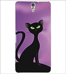 SONY XPERIA C5 BLACK CAT Designer Back Cover Case By PRINTSWAG