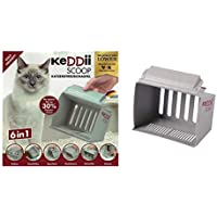 keddii Scoop 02227XL Gato Pala dispersa | Pala Colador tamaño Adaptable (Gato Inodoro/para Gatos) | hasta 10x más Volumen como Tradicionales de excrementos aspas
