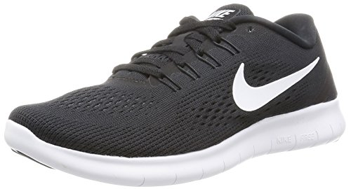 Nike Free Run, Scarpe Running Donna, Nero (Black/White/Anthracite), 40 EU