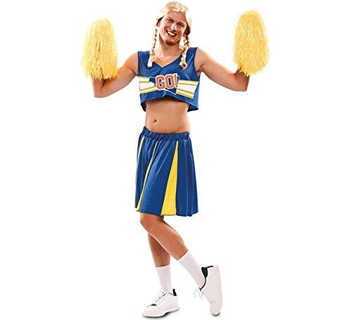 Herren Kostüm Cheerleader - EUROCARNAVALES Cheerleader Blau Kostüm für Herren M/L